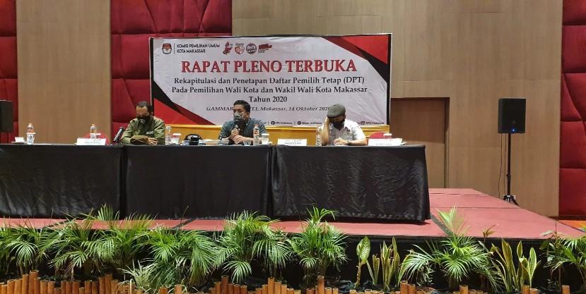 Total DPT Makassar 901087 Pemilih, Hanya Bertambah 1000 Lebih dari Hasil DPS