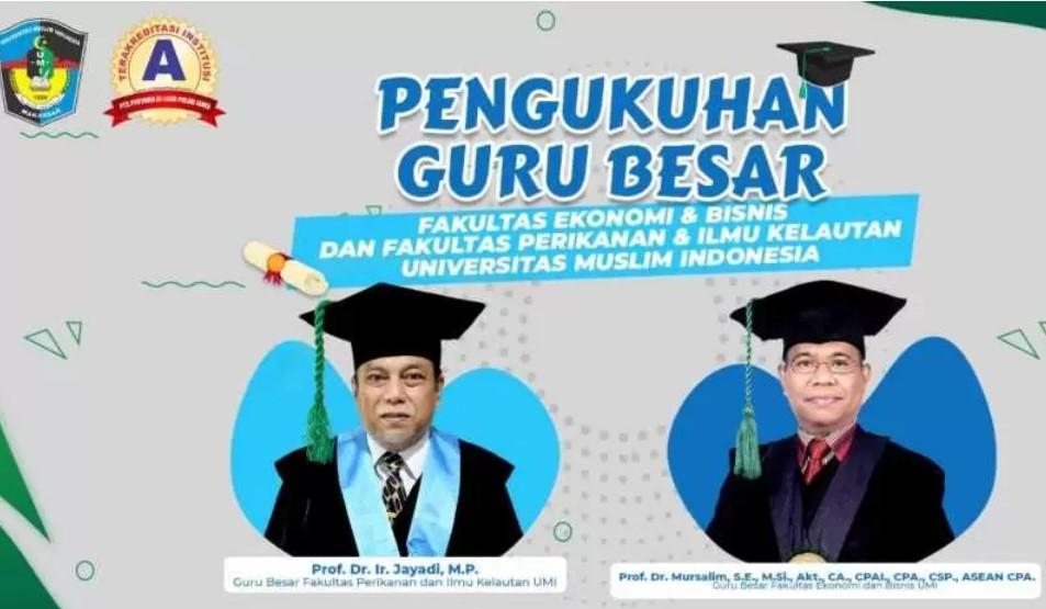 UMI Kembali Kukuhkan 2 Guru Besar di Bidang Peternakan dan Ekonomi
