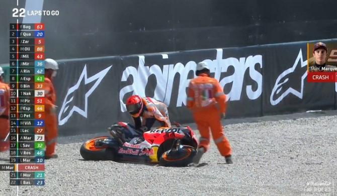 Usai Jatuh di MotoGP Italia 2021, Marquez Malu dan Gagal Tambah Waktu Tempuh
