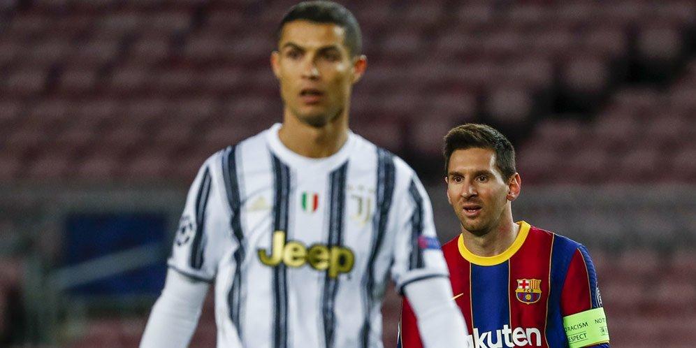 Video Ronaldo Rebut Bola dari Kaki Messi Disukai Jutaan Penonton