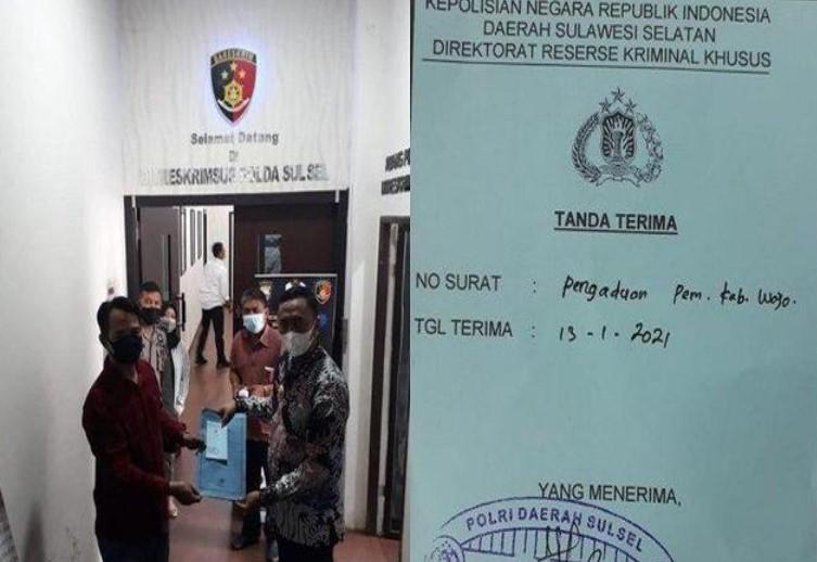 Wabup Wajo Amran Polisikan Mantan Ketua DPRD Andi Asriadi